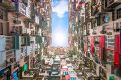 Yichang building in hong kong royalty free stock photo