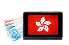 Hong Kong online banking concept Royalty Free Stock Photos