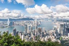 Hong Kong på dagen Arkivfoto