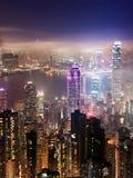 Hong Kong på natten Royaltyfri Foto