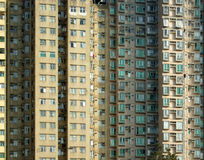 Hong Kong Packed Apartment Blocks Stock Photo