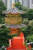 Hong Kong pagoda Royaltyfri Foto