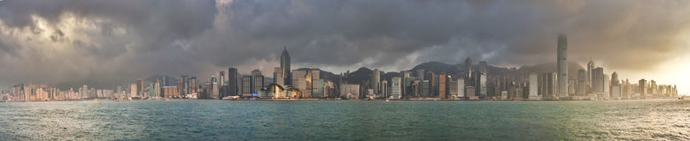 hong kong panorama Fotografia Royalty Free