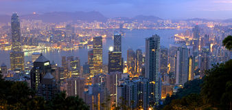 Hong Kong panorama Stock Photography