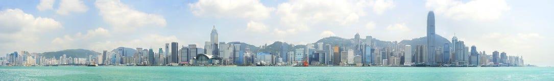 Hong Kong panorama Arkivfoto