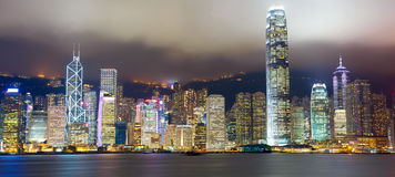 Hong Kong panorama Royaltyfri Foto