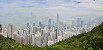 Hong Kong panorama zdjęcie royalty free