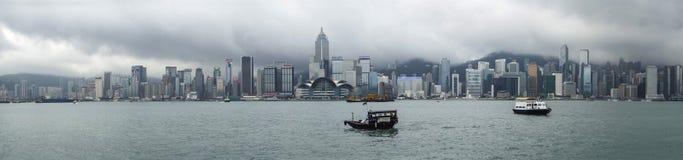 Hong Kong panorama Royaltyfri Fotografi