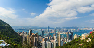 Hong Kong panorama Royaltyfria Foton