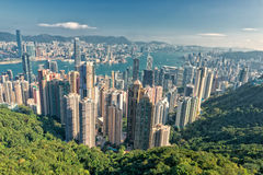 Hong Kong Panorama city View from The Peak Royalty Free Stock Photo