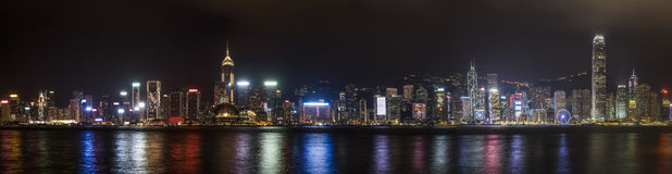Hong Kong. Panorama view of Hong Kong cityscape over Victoria Harbour Stock Photography