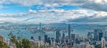 Hong Kong Panorama View from The Peak Stock Image