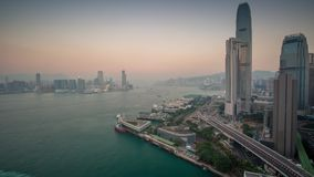 Hong Kong panorama view Sunset timelapse stock footage