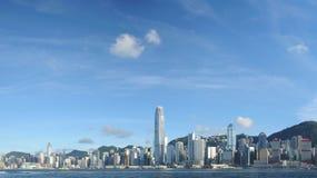 Hong Kong panoramahorisont royaltyfria bilder