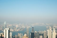 Hong kong panoramic view Royalty Free Stock Photography