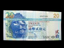 Hong Kong Paper Currency $20 Stock Photo
