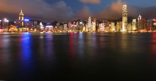 Hong Kong par Night Photographie stock libre de droits