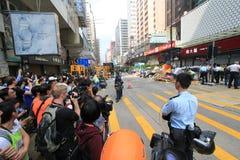 Hong Kong-paraplurevolutie in Mong Kok Stock Fotografie
