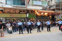 Hong Kong-paraplurevolutie in Mong Kok Stock Afbeeldingen
