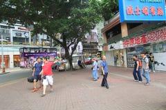 Hong Kong-paraplurevolutie in Mong Kok Stock Foto