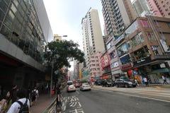 Hong Kong-paraplurevolutie in Mong Kok Stock Foto's