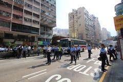 Hong Kong-paraplurevolutie in Mong Kok Royalty-vrije Stock Afbeeldingen