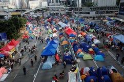 Hong Kong paraplyrevolution 2014 Arkivbilder