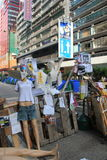 Hong Kong paraplyrevolution i Mong Kok Arkivfoton