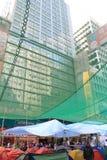 Hong Kong paraplyrevolution i Mong Kok Arkivbilder