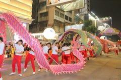 Hong Kong: Parata cinese internazionale 2015 di notte del nuovo anno Immagini Stock Libere da Diritti