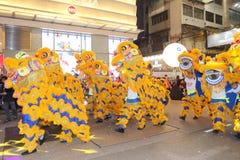 Hong Kong: Parata cinese internazionale 2015 di notte del nuovo anno Immagine Stock