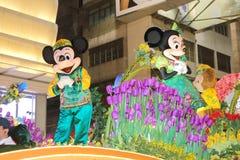 Hong Kong: Parata cinese internazionale 2015 di notte del nuovo anno Immagine Stock Libera da Diritti