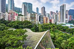 Hong Kong Park Royaltyfri Foto