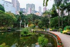 Hong Kong park Arkivfoto