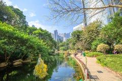 Hong Kong Park panorama Royalty Free Stock Image