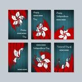 Hong Kong Patriotic Cards para el día nacional Fotos de archivo