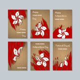 Hong Kong Patriotic Cards para o dia nacional ilustração do vetor