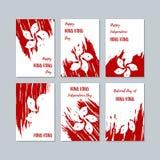 Hong Kong Patriotic Cards para o dia nacional ilustração royalty free