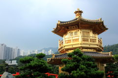 Hong Kong. Pavilion in Nan Lian Garden, Hong Kong Stock Images