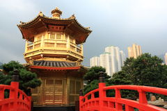 Hong Kong. Pavilion in Nan Lian Garden, Hong Kong Royalty Free Stock Photos