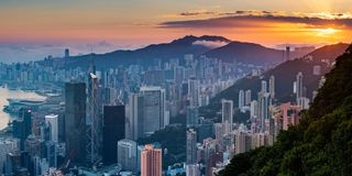 Hong Kong Peak, Hong Kong Photographie stock libre de droits