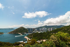 Hong Kong from the peak. Ong Kongis a special administrative region (SAR) of the People's Republic of China (PRC). It is situated on China's south coast and Royalty Free Stock Photos