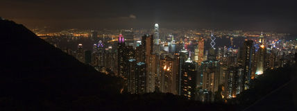 Hong Kong Peak Pano Stock Photo