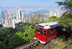 Hong Kong peak tram royalty free stock image