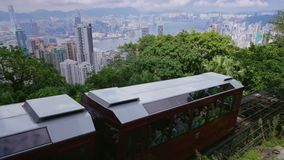 Hong Kong. Peak Tram. 4K Stock Images