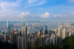 Hong kong from the peak Royalty Free Stock Photography