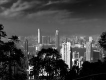 Hong Kong peak victoria  bw Stock Image
