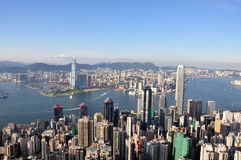 Hong Kong Peak view 2010 Royalty Free Stock Photo