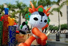 Hong Kong: Pechino 2008 mascotte di Olimpiadi fotografia stock libera da diritti
