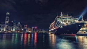 Hong Kong pejzaż miejski przeglądać od Wiktoria schronienia Zdjęcie Stock